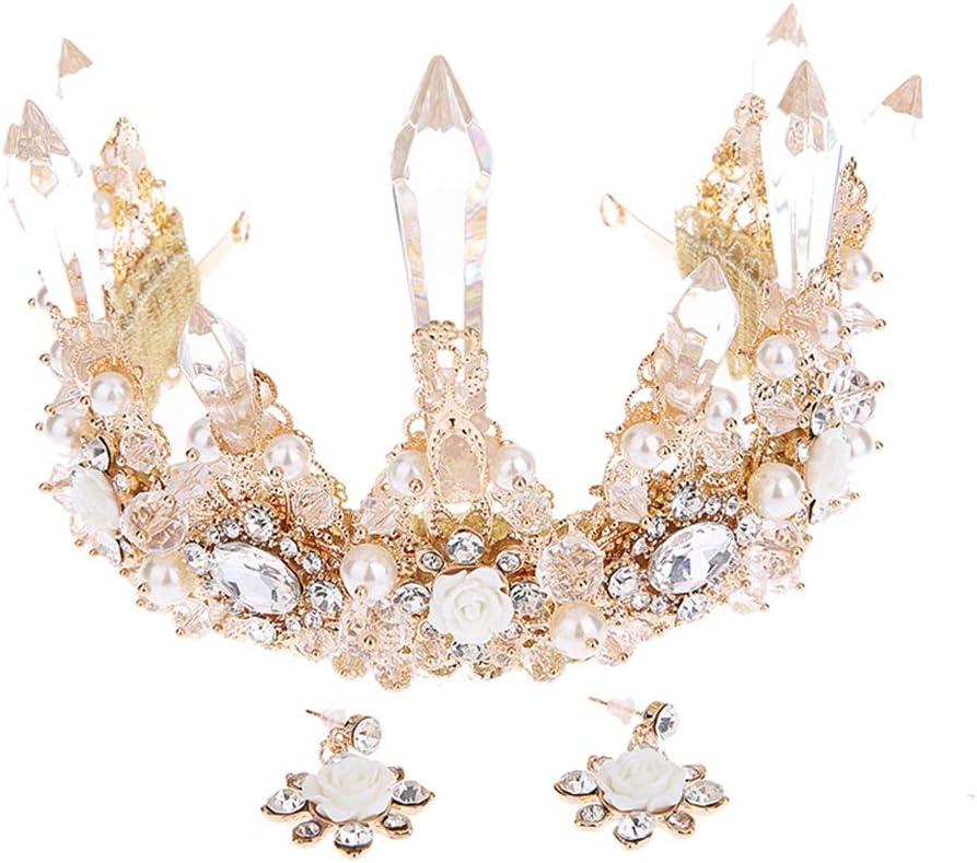 SMLZV Gorgeous Pretty Rhinestone Tiara Ranking TOP19 Exquisite Crown Los Angeles Mall Headband