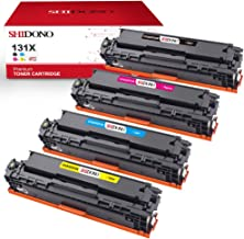 Shidono Compatible Toner Cartridge Replacement for HP 131X 131A Fits with Laserjet Pro 200 Color MFP M276nw/MFP M276n/MFP M251nw/MFP M251n Printer, [4-Pack, Black/Cyan/Yellow/Magenta]