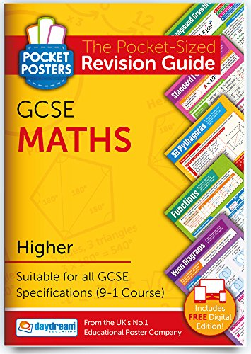 GCSE Maths (Higher) | Pocket Posters: The Pocket-Sized Maths Revision Guide | GCSE Specification | FREE digital edition for computers, phones and tablets with over 1,000 assessment questions!