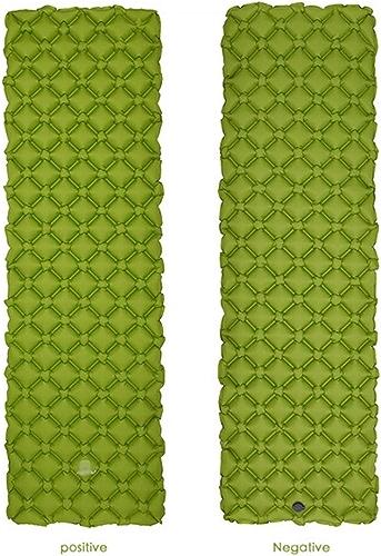 YINGENG Tapis de Camping de Tapis de Camping Gonflable (Tissu 40D en Nylon Ripstop), Coussin d'air extérieur en TPU en Forme de X portatif (1), Matelas Gonflable pour Pique-Nique,vert