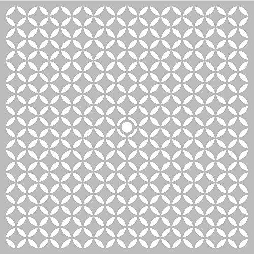 Pochoir géométrique - 32 x 32 cm - Etarcide géométrique