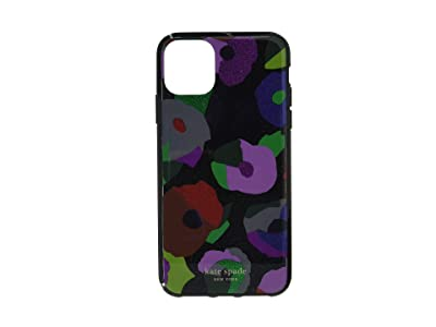 Kate Spade New York Glitter Floral Collage Phone Case for iPhone 11 Pro Max (Black Multi) Cell Phone Case