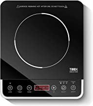 Induction Cooktop,1800 Watt Portable Induction Burner for Rapid Heating, Electric Induction Cooker with 10 Power /Temperature Settings, Up to 180 mins Built-in Timer, Smart Sensor Touch Panel, Kids Safety Lock
