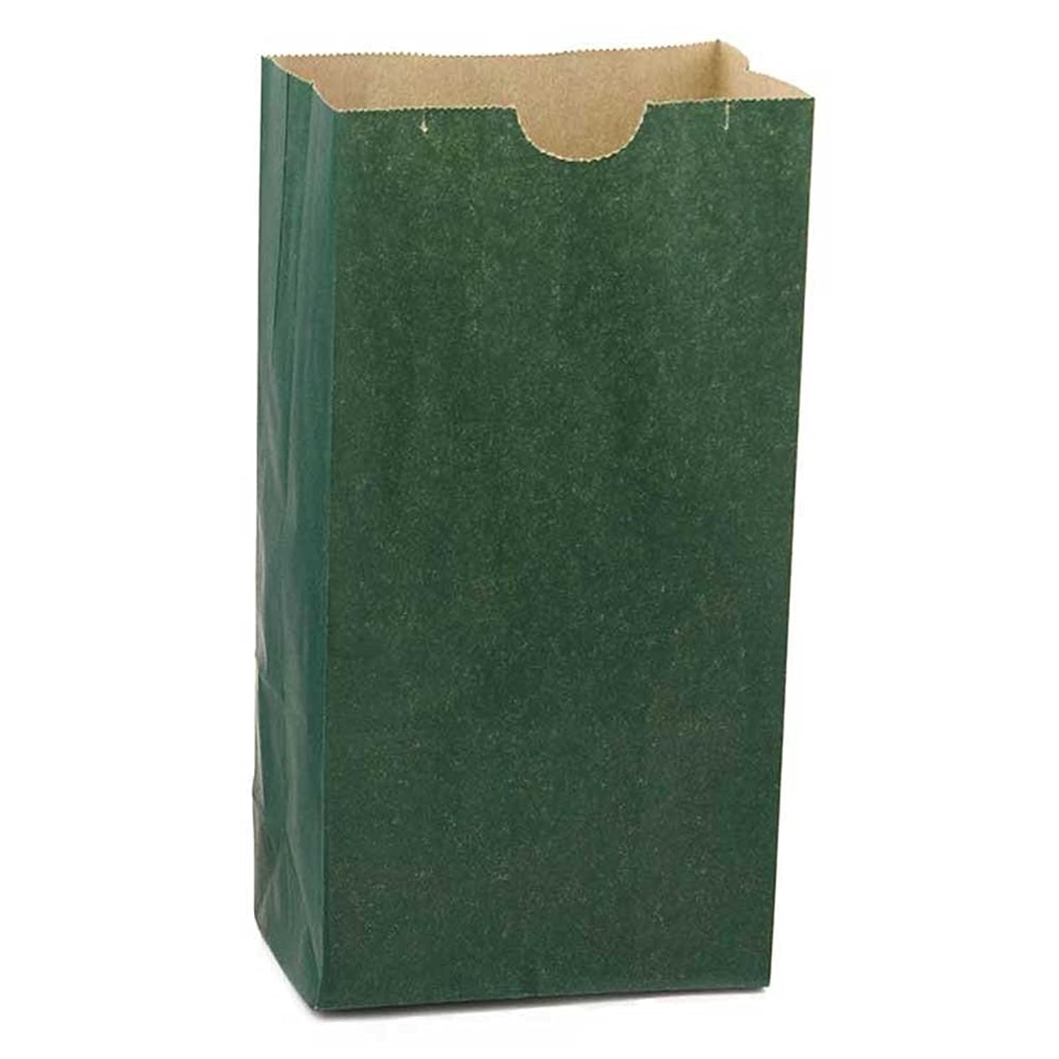 Hygloss Products Dark Green Paper Bags – For Party Favors, Arts, Crafts 4.5 x 8.5 x 2.5 Inch, 100 Pack