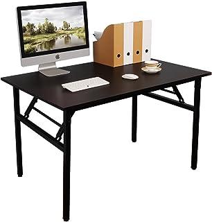 Need Bureau d'Ordinateur Informatique Pliante 100x60cm Table d'étude/à dîner Pliable pour Maison/Bureau, Noir AC5CB-100