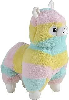 Novashop Cuddly Llama Rainbow Alpaca Large Plush 14