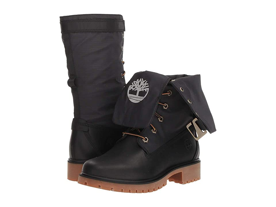 Timberland Jayne Waterproof Gaiter Boot (Black Full Grain/Black) Women