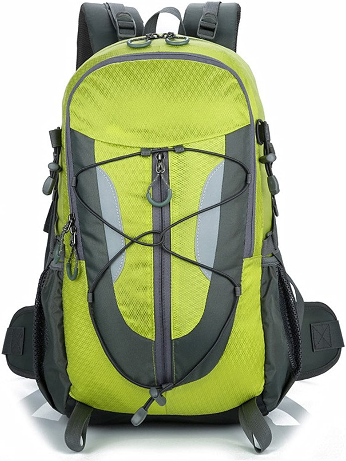 Mountaineering Backpack Waterproof Lightweight Multifunction Leisure Sport Travel by Walking Camping Outside Neutral Men and Women Shoulders Suitable for Outdoor Use (color   Green)