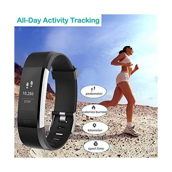 Willful Fitness Tracker with Heart Rate Monitor, Fitness Watch Activity Tracker Waterproof 4