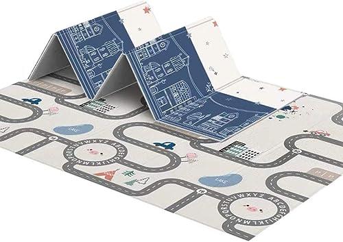 HLMIN Tapis de Puzzles Jigsaw Tapis de Puzzles Jigsaw Tapis Rampant Pliable Ménage épissure épais Insipide Facile à Ranger Envoyer Un Sac De RangeHommest (Couleur   A, Taille   150X200X1.6CM)