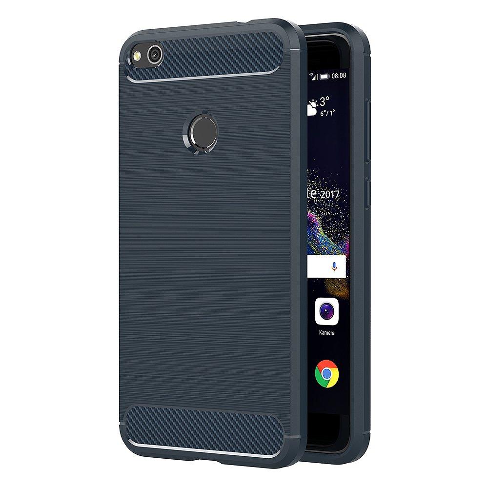 AICEK Funda Huawei P8 Lite 2017, Azul Silicona Fundas para Huawei P8 Lite 2017 Carcasa P8 Lite 2017 Fibra de Carbono Funda Case (5,2 Pulgadas): Amazon.es: Electrónica