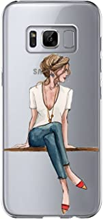 Samsung Galaxy S8 Case,Flower Clear Soft TPU Ultra Thin Phone case for S8