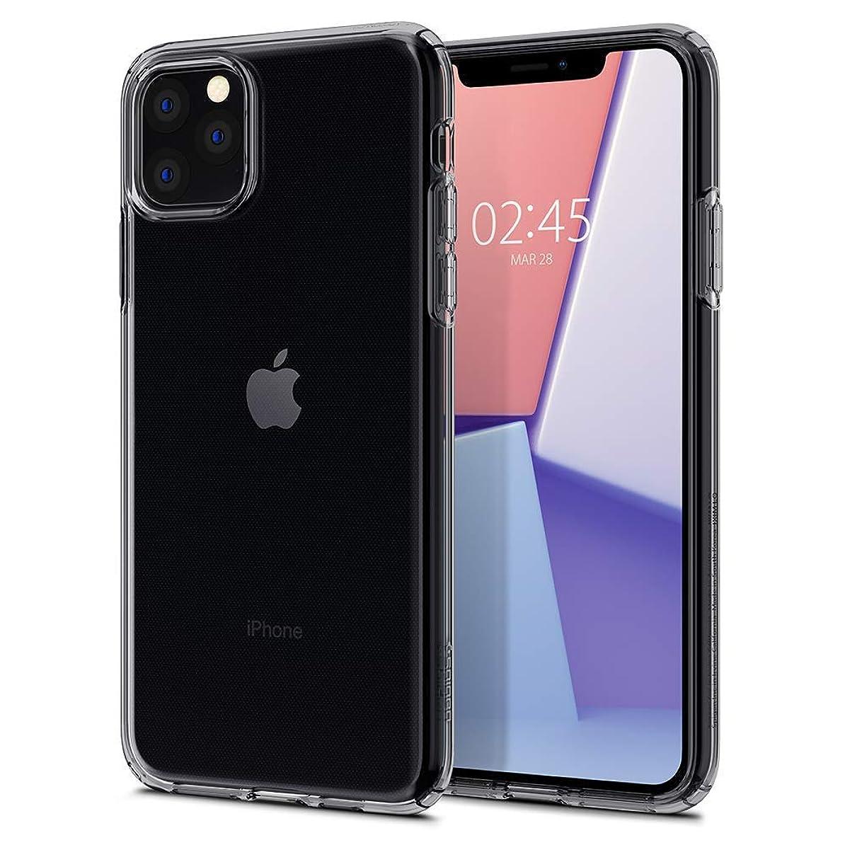 【Spigen】 iPhone 11 Pro Max ケース 6.5インチ 対応 TPU 傷防止 レンズ保護 超薄型 超軽量 Qi充電 ワイヤレス充電 クリア リキッド?クリスタル 075CS27130 (スペース?クリスタル)