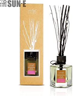 Essential Oil Reed Diffuser Gift Ornaments Set -Reed Sticks and Long Lasting Natural Scented Fragrance Oil (3.52Oz.) Glass Bottle for Aromatherapy and Air Fresheners. (Lily & Jasmine)