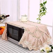 HHYK La Nueva Manera de microondas Cubierta de Encaje de microonda de la Capilla de Aceite Protector contra el Polvo Accesorios Cocina de la decoración del hogar Can Lavable (Color : Color 2)