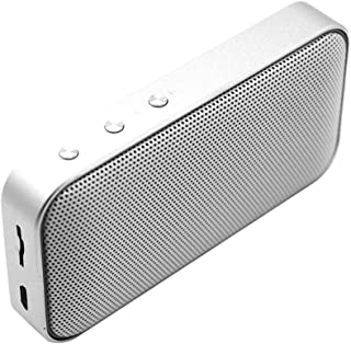 Prettyia Portable Bluetooth Speaker, Loud Wireless Speaker with Stereo Sound Enhanced Bass with Speaker Output 5W X 1 - Silver