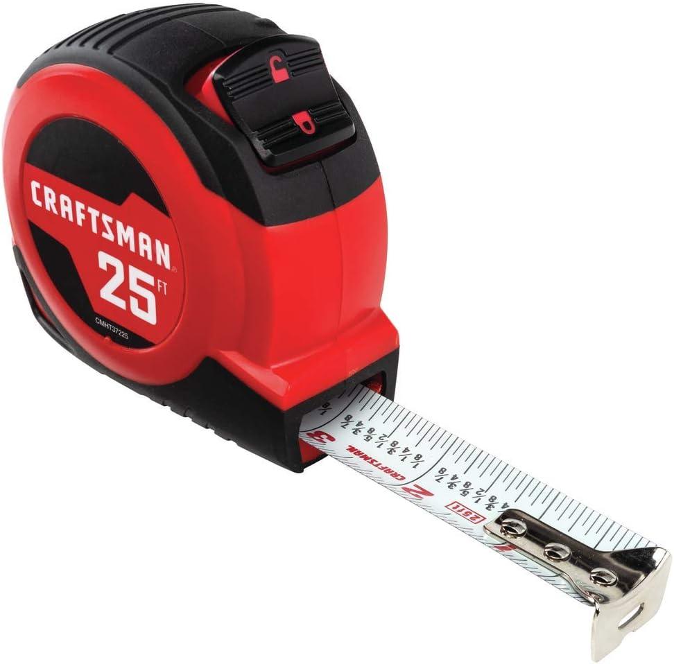 CRAFTSMAN Tape Measure, Self-Lock, 25-Foot (CMHT37225S) - -