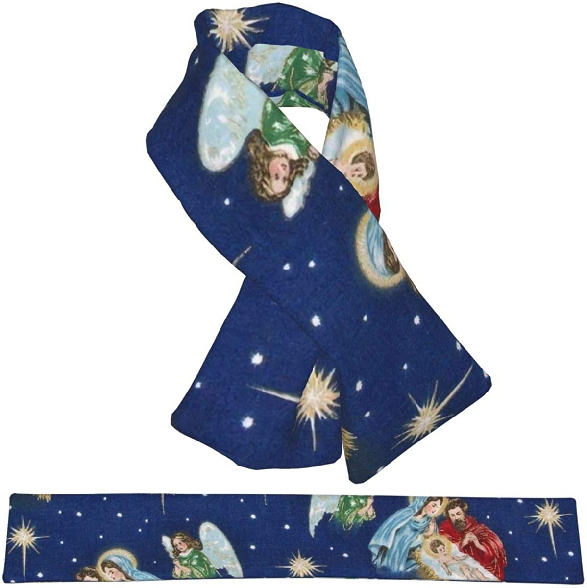 Cartoon Cow Pattern Flannel Scarf Warm Neck Windproof Scarves For Women And Girls