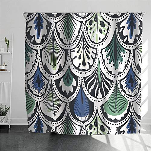 XCBN 原文 Jirafa con Gafas Coloridas Cortina de Ducha Moda Diseño Simple Cortinas Decorativas para el hogar para baño Art Cloth A14 150x180cm