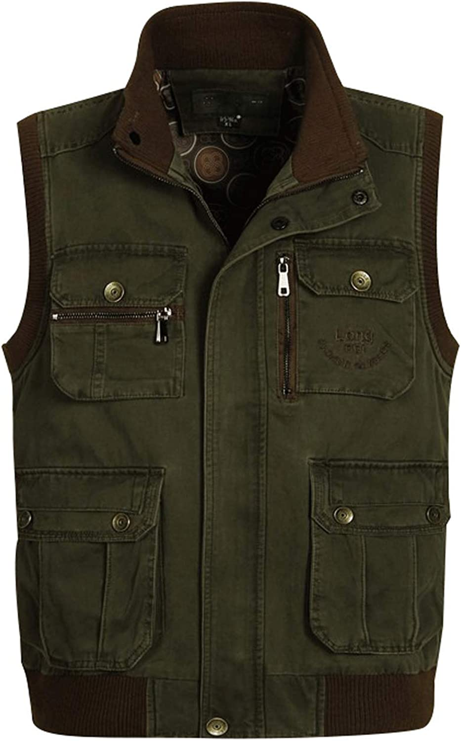 Zoulee Men's Outdoor Photographers Vest with Multi Pockets Fishing Vest