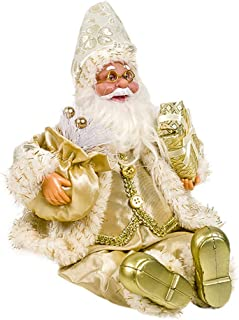 Wadonerful Christmas Decoration Indoor Standing Santa Claus Doll Holding Gifts Home Decor Party Ornaments Stuffed Dolls