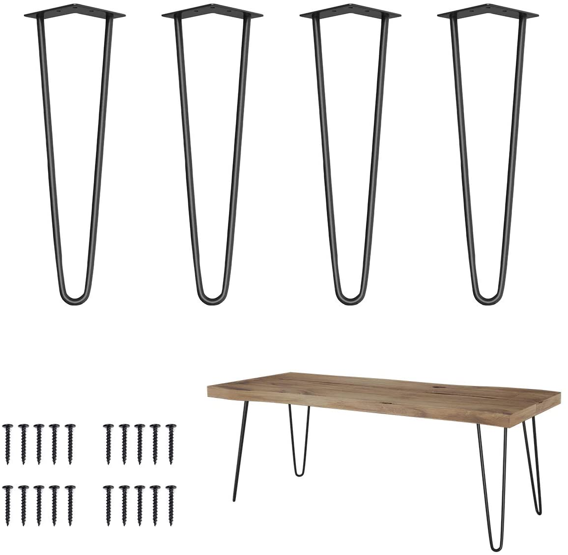 Genius Iron High quality 16 Inches Ranking TOP3 Furniture Hairpin 3 Metal Rods Legs 8in