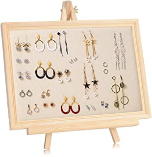 CCdo Wood Stud Earring Rack Home Wall Mount Necklace Jewelry Storage Organizer Photo Frame Props Support Jewelry Display Rack