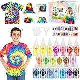 Emooqi Tie Dye Kit, Textiles de Tela 20 Piezas Colores Vibrantes Adecuado para Arte de Bricolaje Tie-Dye para Niños y Adultos