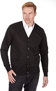 Pierre Roche - Men's Knitted V Neck Shawl Collar Buttoned Cardigan