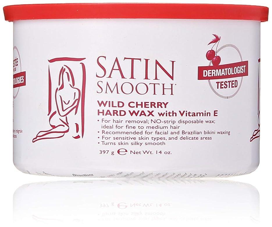 に勝る上向き言語Satin Smooth Wild Cherry Hard Wax with Vitamin E, 14 oz. 141[並行輸入]