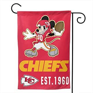 Dalean Kansas City Chiefs Double Sided Warm Garden Flags, Weather Resistant Garden Flags, Best Party Yard and Home Outdoor Decor