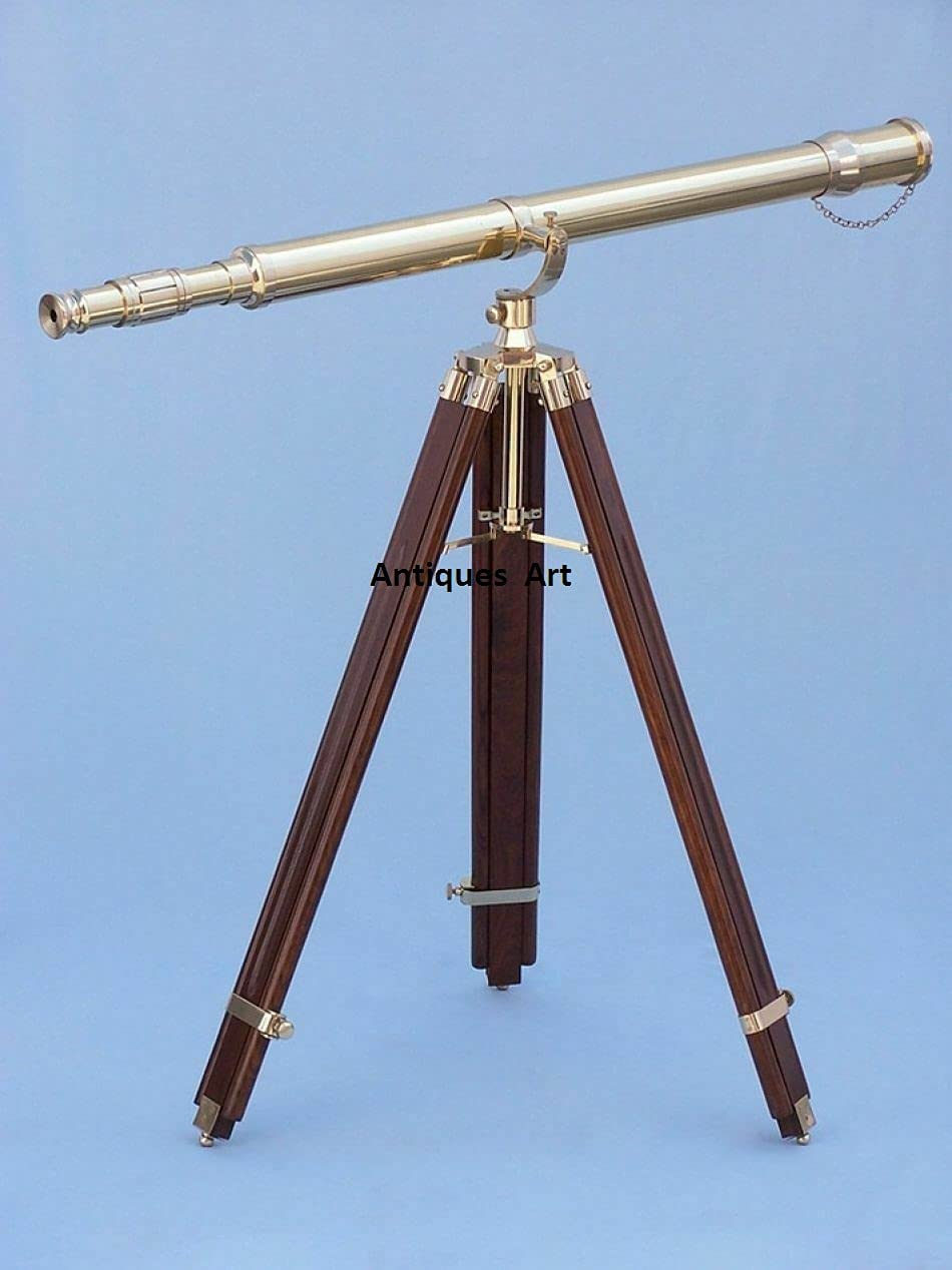 Antique Brass Telescope Limited price sale with Collectible 67% OFF of fixed price Tripod Stan Wooden