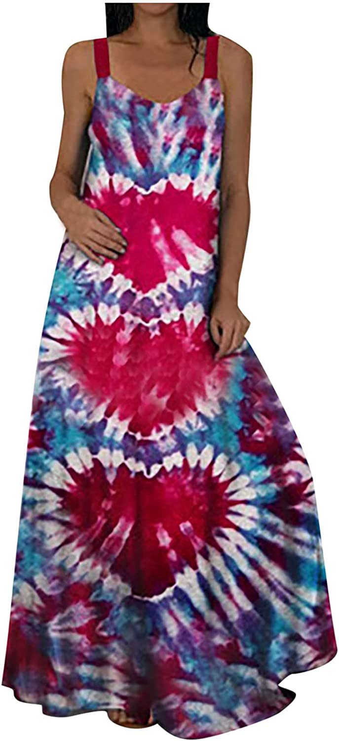 Tie Max Fees free!! 51% OFF Dye Dress for Women Casual Dresses Summer Spaghetti Gr Strap