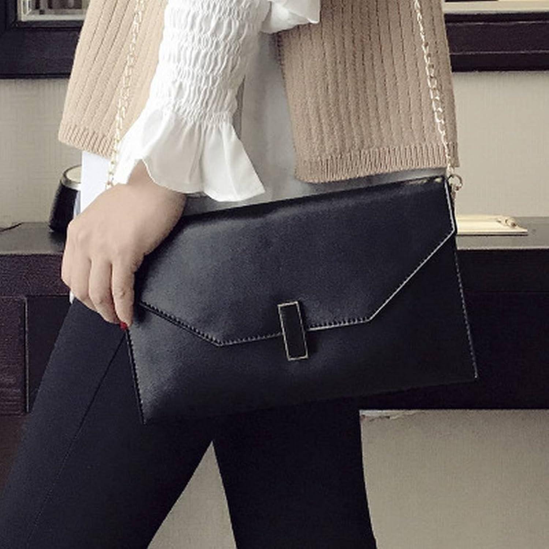 YTTY Schulter Messenger Tasche Weiche Handtasche Trendy Hand Greifen Kupplung Temperament Wilden Umschlag Handtaschen, schwarz