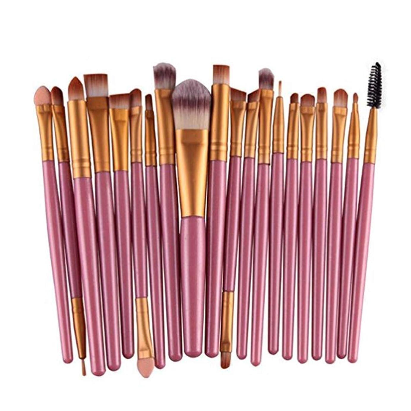 性別わずかに打撃アイシャドウブラシセット20ピース化粧アイブラシアイシャドウブレンドブラシアイブロウアイライナーリップブラシ美容ブラシ、ギフトに最適 (Color : Pink)