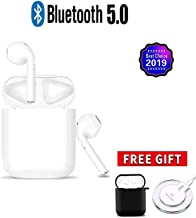 Wireless Bluetooth Headset Sports Headphones,in-Ear Stereo Headphones with Portable Charging Box Bluetooth,Sport Headsets Buit-in Mic for Work/Running/Travel/Gym,for iPhone Apple Android Airpods etc