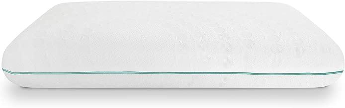 SensorPEDIC Fresh Bed Pillow, Standard, White/Green