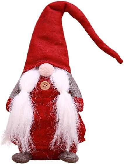 Schwedische Santa Gnome Pl/üsch handgemachte Weihnachten Gnome Elf Zwerg Santa Dekoration Figuren Geschenke