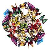 50pcs Garten Schmetterlinge Deko, Bunt Gartendeko Schmetterling auf Stöcken für Pflanzendekoration, Outdoor Hof, Garten Dekoration
