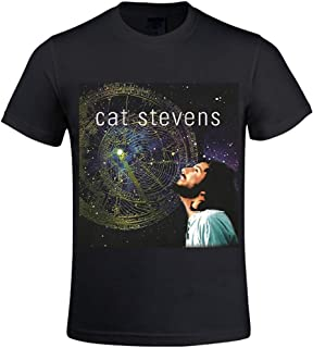 Cat Stevens on the Road to Find out Men Crew Neck Men T Shirts Graphic Black