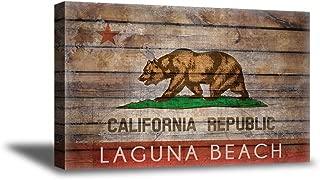 Christmas Sweater for women California Flags Canvas Wall Art Laguna Beach Home Decor Prints Cali 19