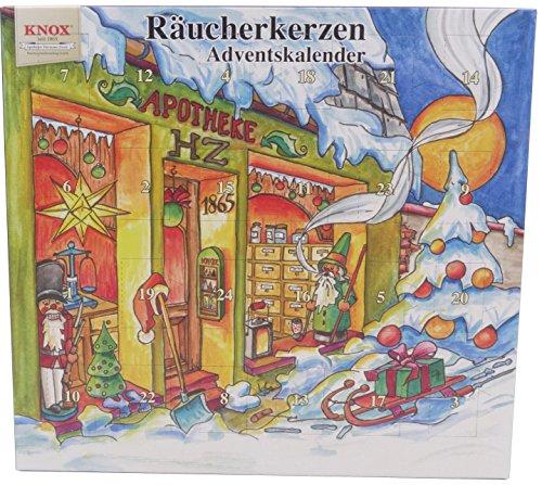 KNOX Räucherkerzen-Adventskalender 2017 mit 24 himmlischen Düften