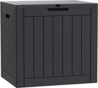 Deck Box 30 Gallon Outdoor Storage Box for Food Deliveries, Patio Tools, Outdoor Cushions & Pillows, Garden Supplies, Pet ...
