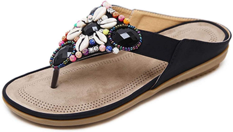 T-JULY Summer Women Flip Flops shoes Flat Female Slippers Women Slides