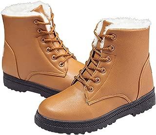 Women's Waterproof Flat Platform Sneaker Shoes Winter Women's Lace Up Snow Boots