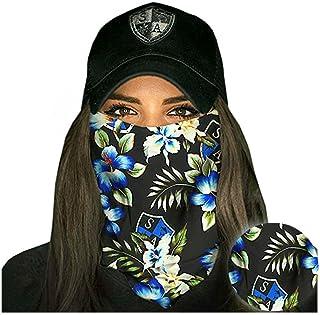 Salt Armour Face Mask Shield Protective Balaclava Bandana MicroFiber Tube Neck Warmer - Tropical Black