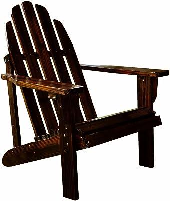 Shine Company Inc 4613BB Catalina Adirondack Chair, 25.75L x 33W x 36H, Burnt Brown