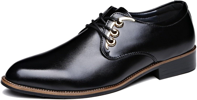 JIALUN-shoes Men's Simple Oxfords Flat Heel Lace up Graceful Business Leisure shoes