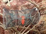Machermann Nr.53 Fischreuse, Krebsreuse, Aalreuse, Köderfischreuse 50x120 cm - Faltbare Reuse - Inklusive Köderdose