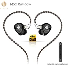 HIDIZS MS1-Rainbow in-Ear Monitor Headphones, Hi Res Wired Earphones, Polymer Diaphragm Hi-Fi IEM Earphones with Detachabl...